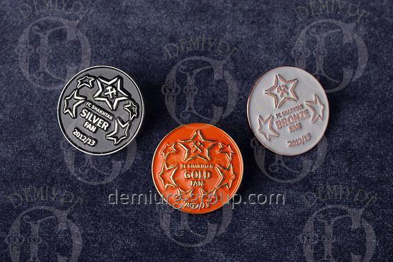 Значки металлические с эмалями