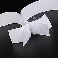 Липучка белая с клеевой стороной, ширина 16 мм, метражом