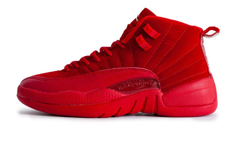 f682cce2 Женские баскетбольные кроссовки Nike Air Jordan 12 Red (Реплика ААА ...
