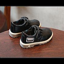 Туфли детские на мальчика из еко кожи черные Frogprince размер 21-30, фото 3