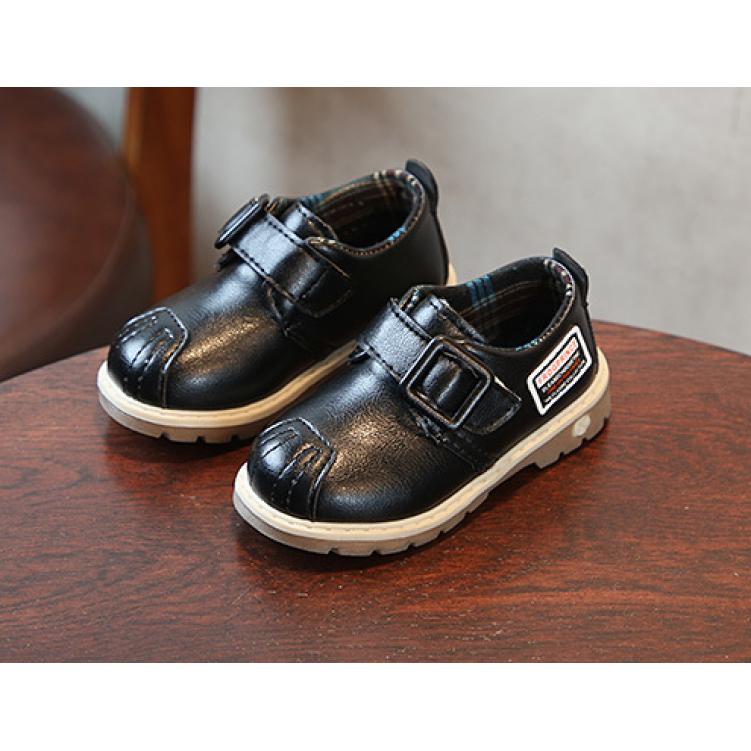 Туфли детские на мальчика из еко кожи черные Frogprince размер 21-30