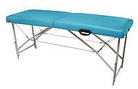 Массажный стол (косметологическая кушетка)  Ukrestet Premium, бирюзовый, CP, складной, 2-секционный