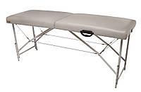 Массажный стол (косметологическая кушетка)  Ukrestet Premium, серый, CP, складной, 2-секционный