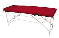 Массажный стол (косметологическая кушетка)  Ukrestet Lux, красный, CL, складной, двухсекционный