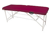 Массажный стол (косметологическая кушетка)  Ukrestet Lux, бордовый, CL, складной, двухсекционный