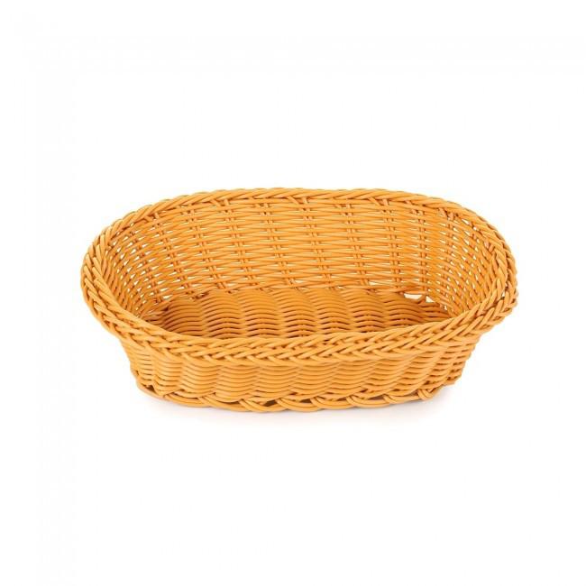 Плетённая корзинка для подачи хлеба овальная HLS (7307)