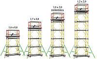 Леса строительные передвижные на колёсах (вышки тур). Вышка тура в аренду Киев., фото 1