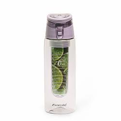 "Спортивная бутылка для воды ""Fruit bottle""660 мл Kamille из пластика (тритан) с крышкой-поилкой. Фрут ботл."