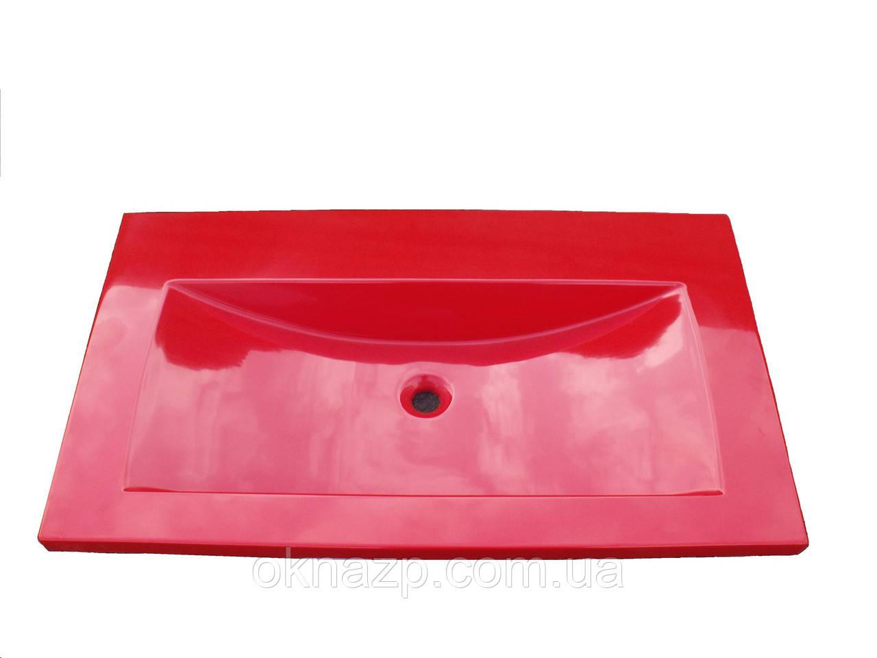 Умивальник з каменю червоний (литий умивальник +3510грн./шт. додатково)