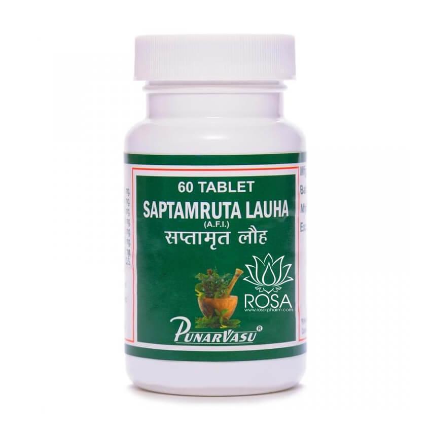 Саптамрит Лаух (Saptamruta Lauha, Punarvasu) 60 табл.; препарат для улучшения зрения