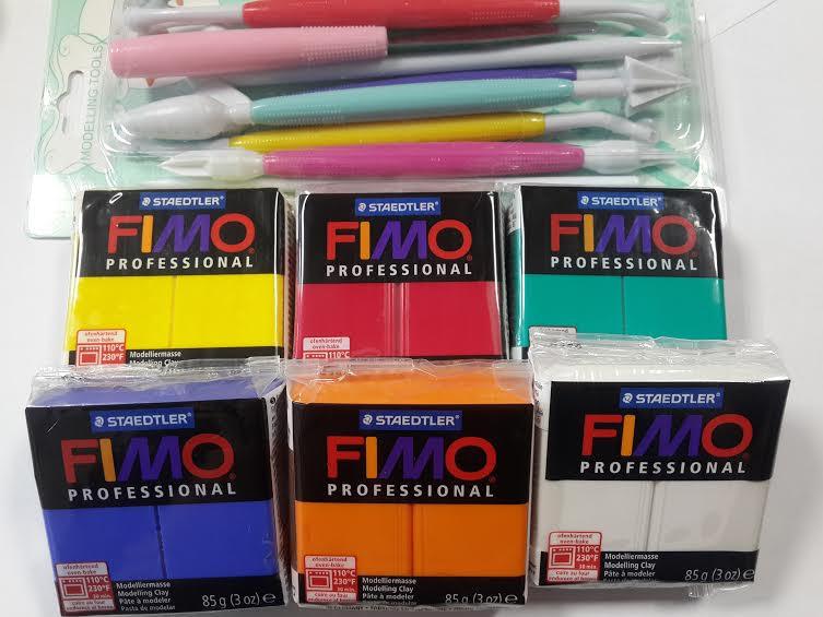 Подарочный набор:Фимо Профессионал - 5 шт. (85 г)+инструменты