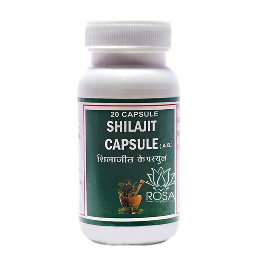 Шиладжит (Shilajit, Punarvasu) 100% мумие, мощное адаптогенное средство, 20 капсул