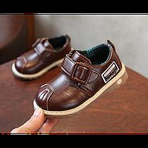 Туфли детские на мальчика из еко кожи коричневые Frogprince размер 21-30, фото 3