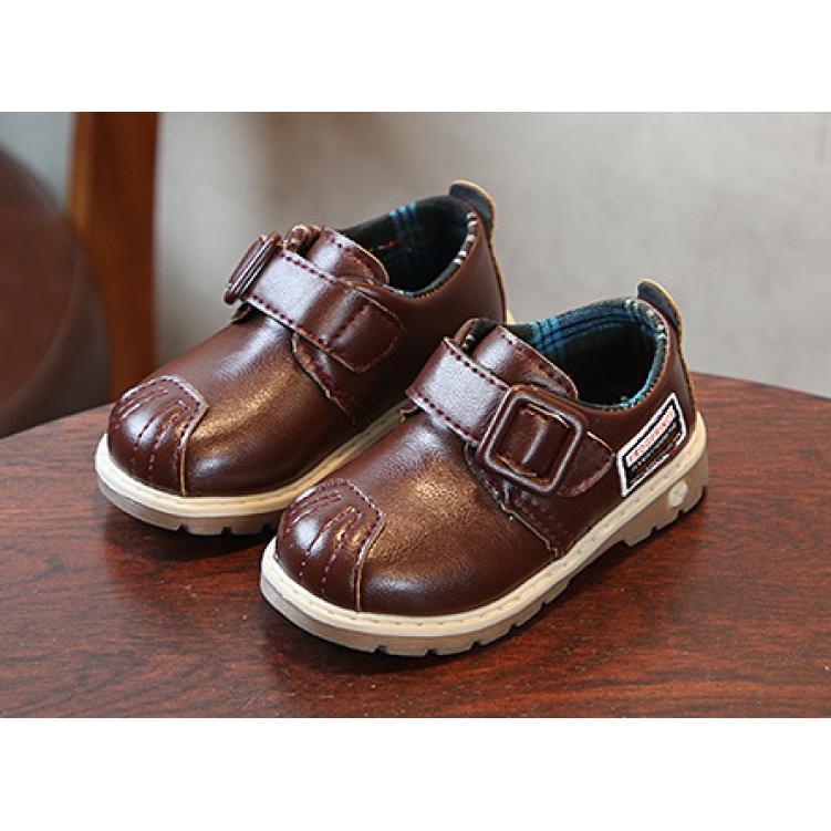 Туфли детские на мальчика из еко кожи коричневые Frogprince размер 21-30