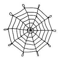 Велике велюрове павутиння 1.5 м, фото 1
