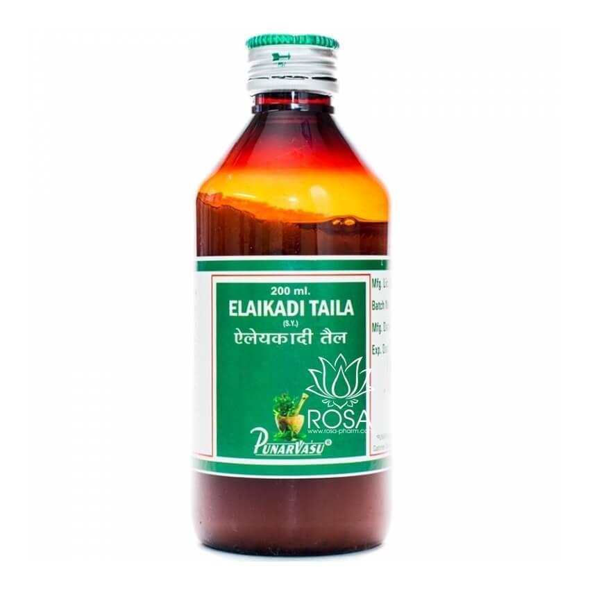 Элади Таил (Elaikadi Taila, Punarvasu) охлаждающее масло для кожи, 200 мл