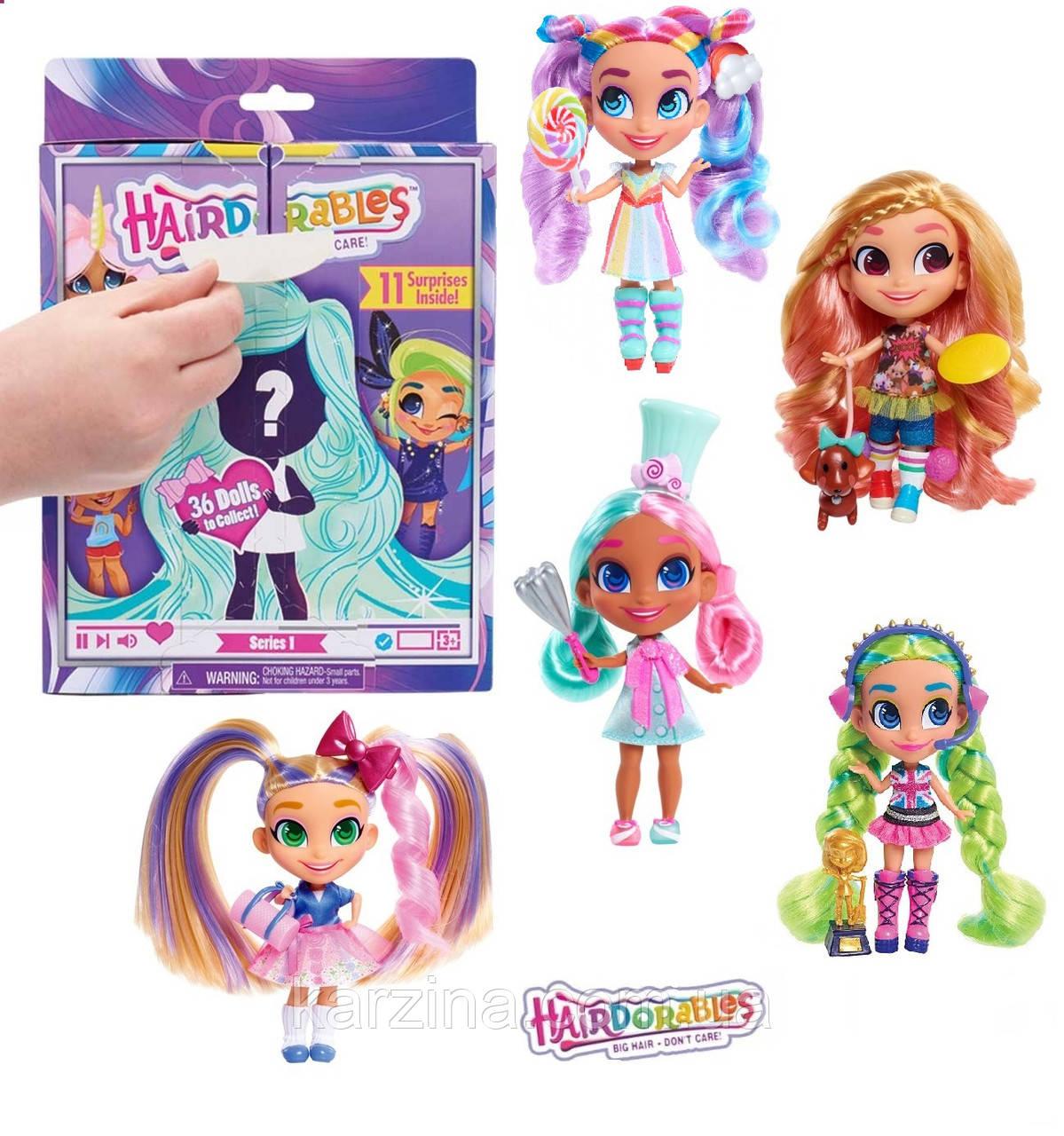 Куколка - СЮРПРИЗ Хэрдораблс с очаровательными волосами Hairdorables Оригинал Just Play (USA)