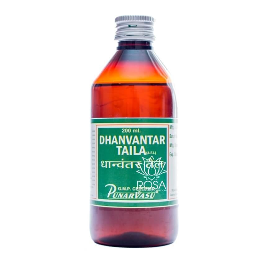 Дханвантарам Таил (Dhanvantar Taila, Purnavasu) эффективное массажное масло, 200 мл