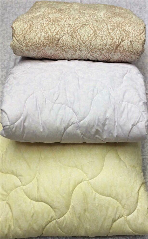 Одеяло легкое двуспальное лебяжий пух 180*210(ткань хлопок)