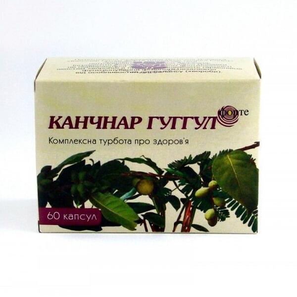 Канчнар Гуггул форте (Kanchnar Guggul Forte, Ayurlab) лечение лимфатической системы организма, 60 капсул