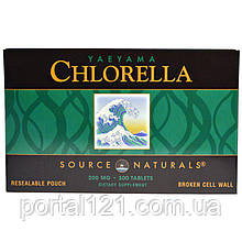 Хлорелла 200мг, Source Naturals, 300 таблеток