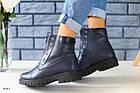 Женские синие зимние ботинки
