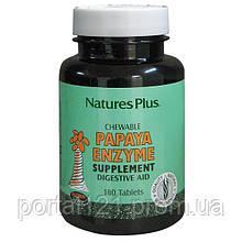 Ферменти Папаї, Natures Plus, 180 жувальних таблеток