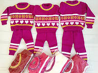 """Детский вязанный костюм двойка """"Снежинка"""""""