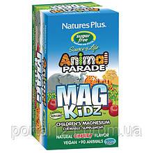 Магній для Дітей без Цукру, Смак Вишні, Animal Parade, Natures Plus, 90 жувальних таблеток