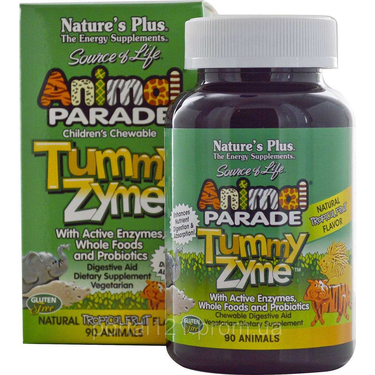Комплекс для Улучшения Пищеварения для Детей, Тропики, Animal Parade, Natures Plus, 90 жк