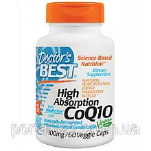 Коензим Q10 Високою Абсорбації 100мг, BioPerine, Doctor's s Best, 60 гельових капсул