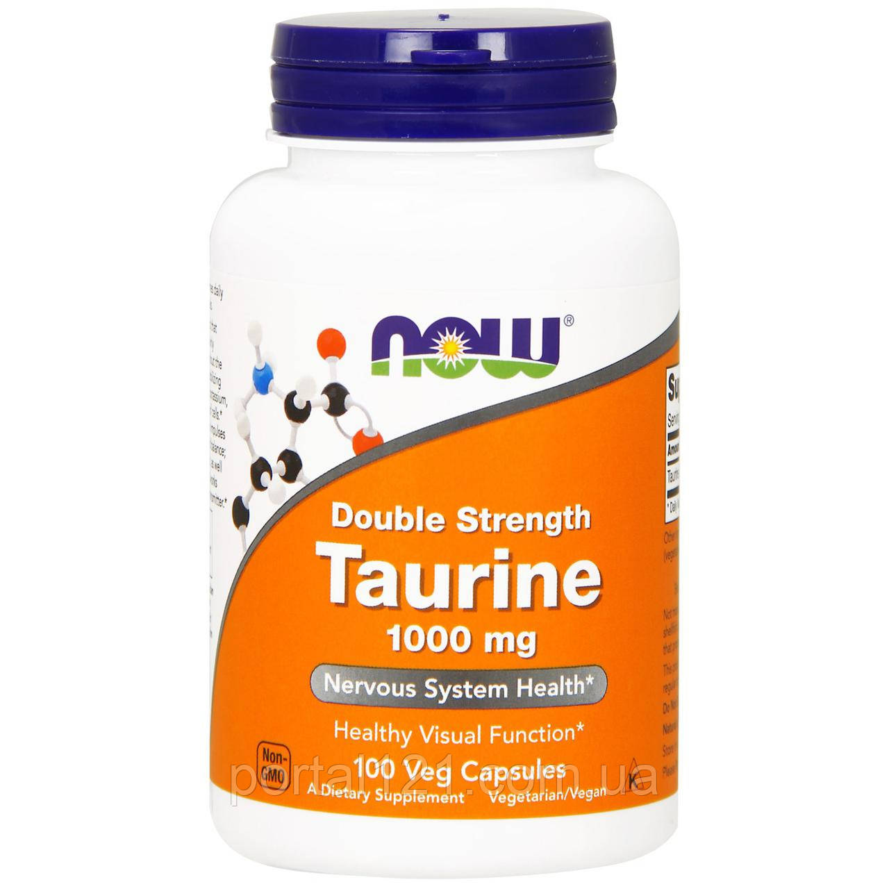 Таурин 1000мг, Now Foods, 100 гелевых капсул
