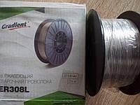 Проволока нержавейка ER-308L д.0,8мм катушка 1кг Градиент