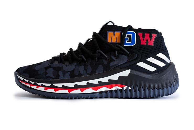мужские кроссовки Adidas Dame 4 X Bape реплика ааа в категории
