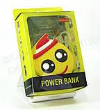 """Компактний зовнішній акумулятор PowerBank Emoji """"Смайлик в капелюсі"""" 8800 mAh 01010, фото 4"""
