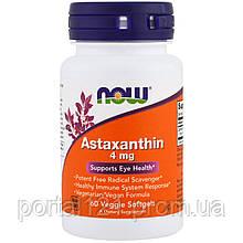 Астаксантин 4мг, Now Foods, 60 желатинових капсул