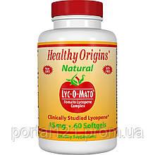Лікопін з Томатів на Оливковій Олії 15мг, Lyc-O-Mato, Healthy Origins, 60 желатинових капсул