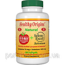 Лікопін + Селен, Lyc-O-Mato, Healthy Origins, 60 желатинових капсул