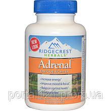 Комплекс для Ліквідації Втоми, Adrenal Fatigue Fighter, RidgeCrest Herbals, 60 гельових капсул