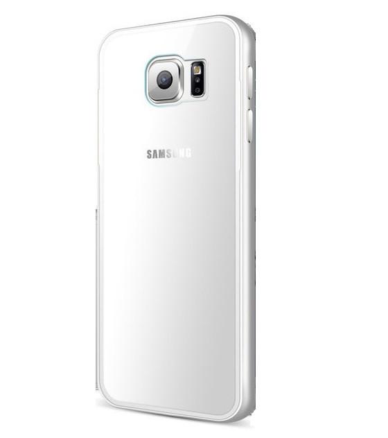 Алюминиевый чехол прозрачный для Samsung Galaxy S6 edge