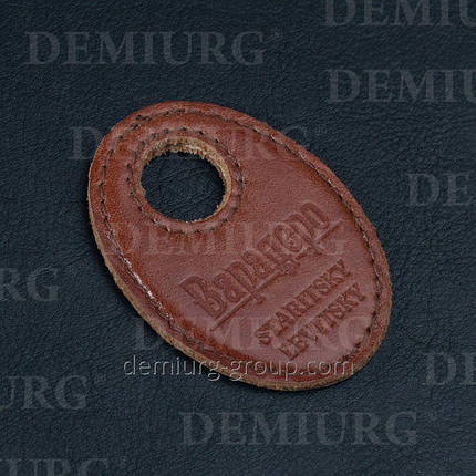 Номерок кожаный с тиснением , фото 2