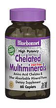 Взаимодействующие Минералы без Железа, Albion, Bluebonnet Nutrition, 60 капсул