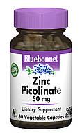 Цинк Пиколинат 50мг, Bluebonnet Nutrition, 50 гелевых капсул