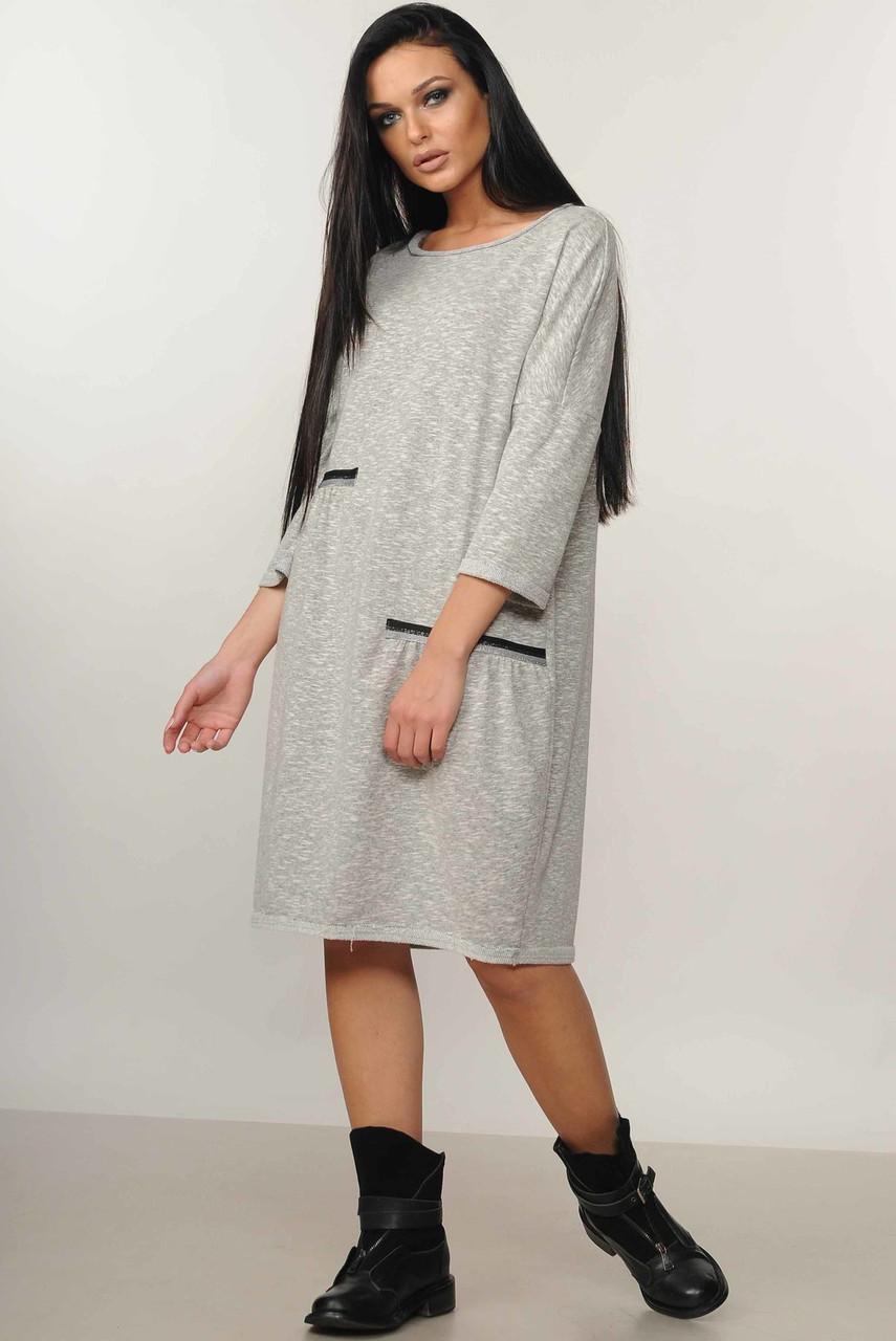 Офисное платье женское теплое оверсайз (oversize)