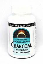 Вугілля 260мг, Source Naturals, 100 капсул