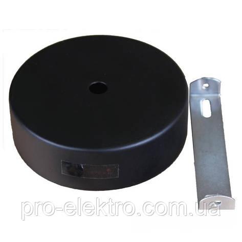 Аксессуары для трековых светильников EH-NKRP- 0004 Настенное крепление черное 20W и 30W  D:78mm H:30mm, фото 2