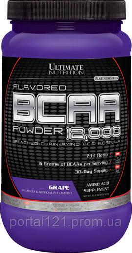 BCAA (Розгалужені Ланцюги Амінокислот) 12000, Смак Винограду, Ultimate Nutrition, 1 фунт (454 г)