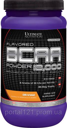 BCAA (Розгалужені Ланцюги Амінокислот) 12000, Смак Апельсина, Ultimate Nutrition, 1 фунт (454 г)