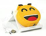 """Прикольний зовнішній акумулятор PowerBank Emoji """"Смайлик Посмішка"""" 15000 mAh 01009, фото 4"""