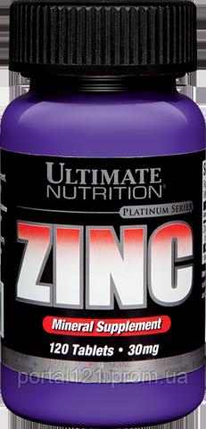 Цинк 30мг, Ultimate Nutrition, 120 таблеток